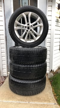4 YOKOHAMA ICE GUARD WINTER TIRES AND RIMS (driven 2 Winters) Size 235/55R18 for Mercedes GLK 350 Montréal, H1C 2C9