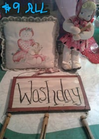 Doll, pillow , sign country cuteness all for $9 Crest Hill, 60403