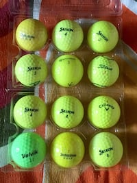 One dozen preowned premium brand coloured golf balls Toronto, M2M 0B1