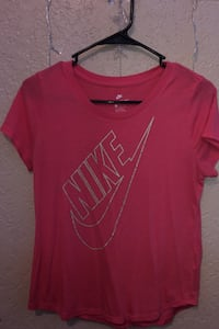 Pink & gold nike short sleeve