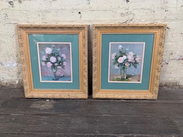 Lovely Pair of Framed Still Life Prints