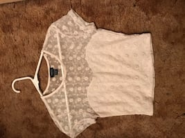 Ivory lace crop top
