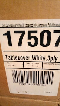 White table covers fits 8ft tables Toronto, M1B 1S3