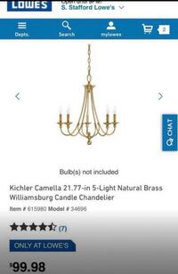 **PRICE IS NEGOTIABLE** (2) Chandeliers  Washington, 20036