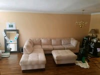 Off White Sectional and Ottoman  Bowie, 20715