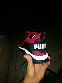 red and white Nike basketball shoe Clearwater, 33760