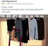women's assorted maternity clothes Peterborough, K9H 0A1