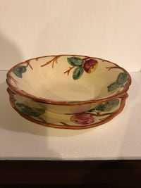 WELLER POTTERY SERVING BOWL AND PLATE SET 299 mi