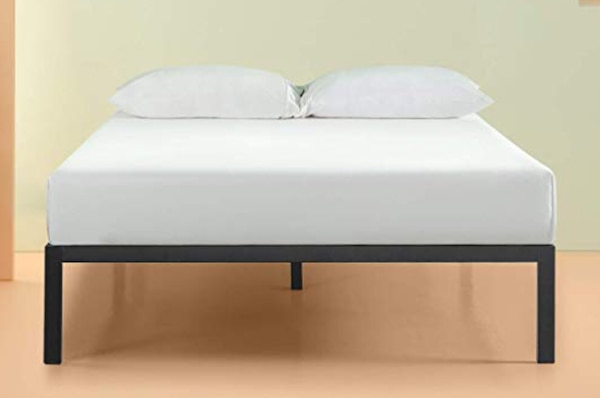 outlet store fa627 12859 Queen Metal Platform Bed & Cool Gel Infused MEMORY FOAM MATTRESS