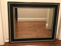 Wood Framed Mirror - Black with Cream Detail Santa Ana, 92705