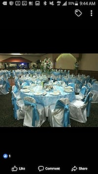 Rental of chair covers sashes and table covers Oak Lawn, 60455