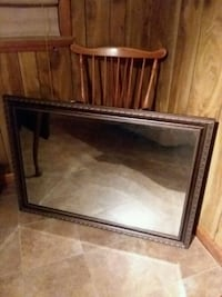 brown wooden framed wall mirror Chatham, 24531