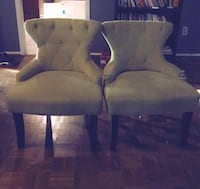 2 sage green side chairs  Dallas, 75230