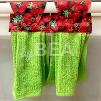 Two (2) strawberries kitchen towels - green Tampa, 33612