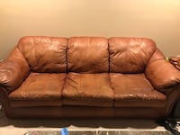 Brown leather 3-seat sofa East Amherst, 14051
