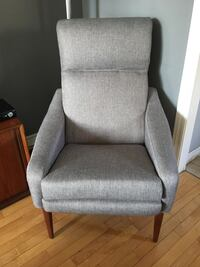 Newly reupholstered mid century modern lounge chair