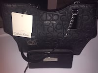 Brand New black authentic Calvin Klein purse with matching wallet  Las Vegas, 89104