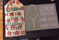 two quoted printed wall decors AMES