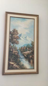 mountain cover by snow painting with framed Mississauga, L4Z 0A5