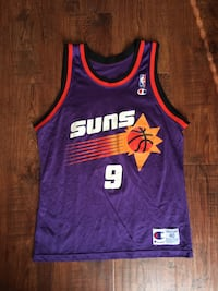 purple and red Phoenix Suns 9 Champion jersey Spring, 77373