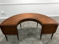 Mahogany curved bar or desk Potomac, 20854