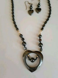 silver and black beaded necklace Salaberry-de-Valleyfield, J6T 1P4