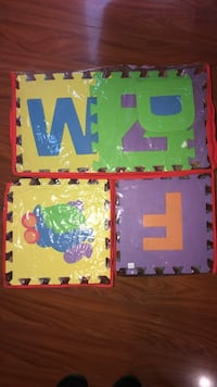 3 sets of baby puzzle mats. Alphabet, shapes, and colors. Carol Stream, 60188