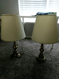 two brown-and-white table lamps Westerville, 43081
