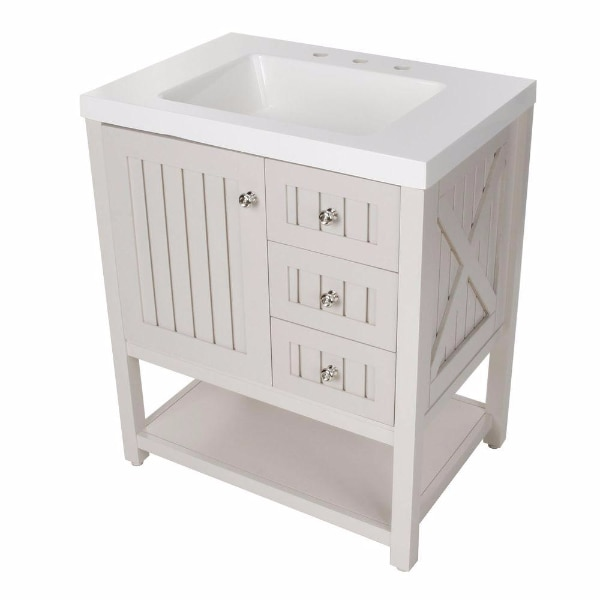 Martha Living Seal Harbor 30 14 In W Bath Vanity Sharkey Gray