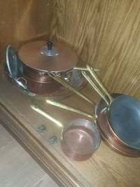Set Of Copper Pots And Pans Calgary, T2Y 2W5