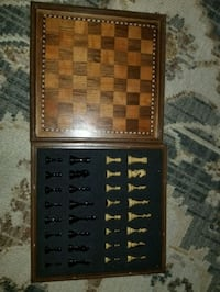 chess board with chess set built in St. Louis, 63110