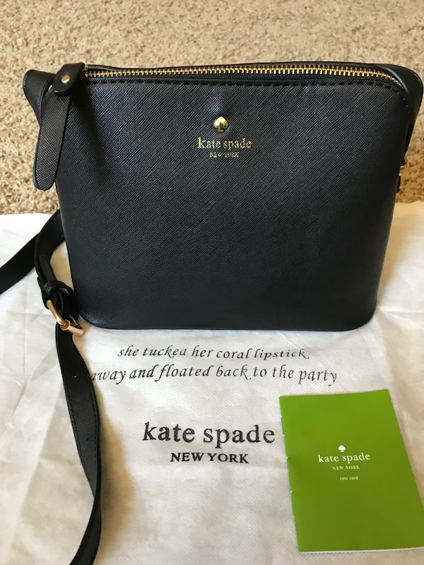 3834180b9bff Used Black kate spade leather crossbody bag for sale in Woodinville ...