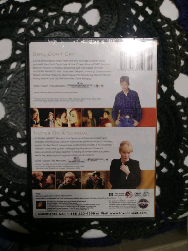 Boys don't cry and Notes on a scandal double feature DVD 896bb5da-f4c6-4506-b157-ab334336c418