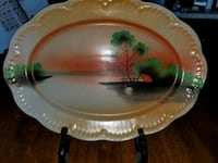 Beautiful oval hand-painted Japanese plate Omaha, 68108