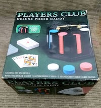 NEW Players Club Deluxe Poker Caddy Manchester, 17345