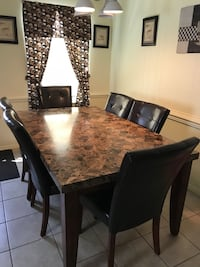 Dining table with six chairs Color Espresso Glen Allen, 23060