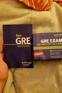 GRE pocket reference book and vocab cards Fairfax, 22032
