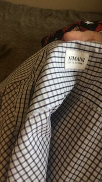 Men's long sleeve ARMANI dress shirt size large  Edmonton, T5X 6G7