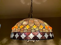 "Tiffany Style 20"" Round Hanging Light Fixture.  North Potomac, 20878"