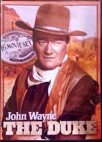 "John Wayne 16 movie set. Complete brand new set that includes all 16 of ""The Duke"" movies on DVD. All 16 original duke movies in one set. STILL SEALED IN PLASTIC. NEVER OPENED.  Pickup is north Columbus  Columbus, 31909"