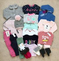 Baby girl's Fall/Winter clothing lot size 6-12 months Mississauga, L5M 0H2