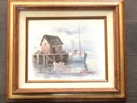 BEAUTIFUL VINTAGE NAUTICAL SCENIC   PAINTING Northport, 11768