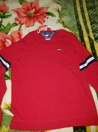 Tommy Jeans red long sleeve SIZE: LARGE