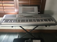 Casio electronic keyboard 76 keys, stand and bench  Los Angeles, 91436