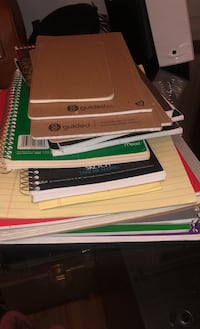 Empty - used assorted notebooks