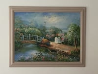 Large oil canvas painting La Habra, 90631