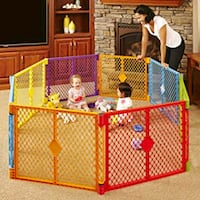 red and white plastic playpen Rockville, 20853