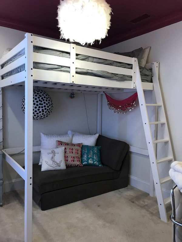 Ikea White Loft Bed Full Size Mattress Not Included