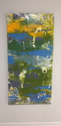 blue and green abstract painting Richmond Hill, L4C 0L3