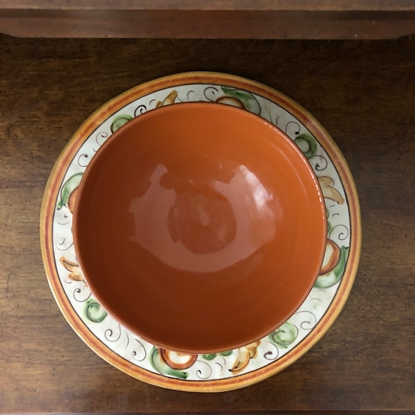 Fall ceramic bowl and plate df9b651c-14ed-4e67-a83f-09ebe5077f7b